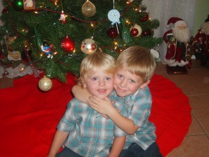 The cutest boys ever in their *Florida* Christmas outfits!
